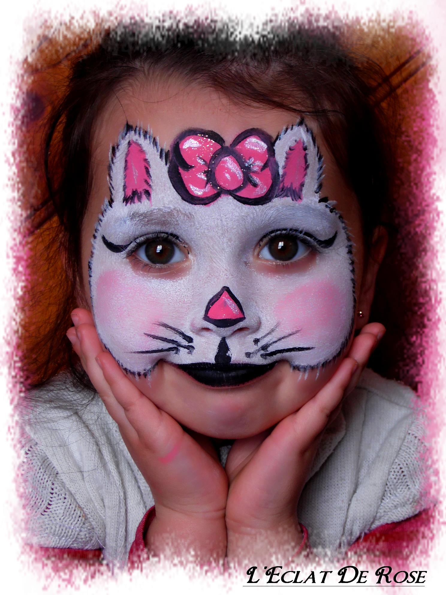 Maquillage chat petite fille - Maquillage chat fille ...